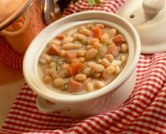 Thanks to Janetta for sharing this hearty bean soup recipe. The soup is made with a bean soup mix, fresh chopped vegetables, and a variety of dried herbs.