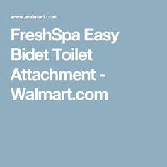 FreshSpa Easy Bidet Toilet Attachment - Walmart.com
