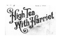 High Tea with Harriet by Ginger Monkey, via Behance This type is fancy but vintage, it might not be very home made looking but handwritten type may suit and because the flavour is dragon fruit, a bit of fancy might work well.