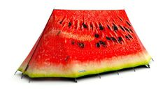 FieldCandy makes Yummy, a great line of colorful camping tents that look like real food, like a watermelon, a sandwich or a wedge of cheese. Be sure to take a look at all of their cool tent designs.
