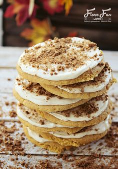 Wow I've never had a soft pumpkin sugar cookie and with ginger snap sprinkles - brilliant!  I want to make these for  a fall gathering.  Perfect!