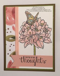 Stamping with Shelle: Best Thoughts Hostess Card - FMS190. http://stampingwithshelle.blogspot.com/2015/06/best-thoughts-hostess-card-fms190.html. #BestThoughts #stampinup #sympathycard