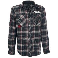 Checkered Application Shirt - Flanellen overhemd van Rock Rebel by EMP