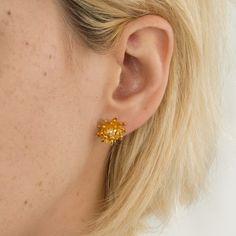 Chrysanthemum Flower Earrings