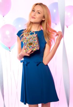 Blue Bow Dress | Jill Stuart