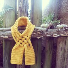 Scarf Knit Pattern Yellow Mustard  PDF ebook how to easy by bysol, $6.00
