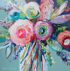 Still life painting by Erin Fitzhugh Gregory Motif Floral, Arte Floral, Abstract Flowers, Acrylic Flowers, Painting & Drawing, Watercolor Paintings, Abstract Paintings, Oil Paintings, Landscape Paintings