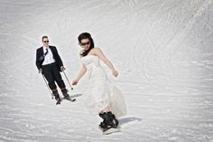 Ski & snowboard wedding shoot!