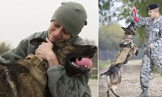 Moment a handler farewelled her K-9 before the dog had to be put down