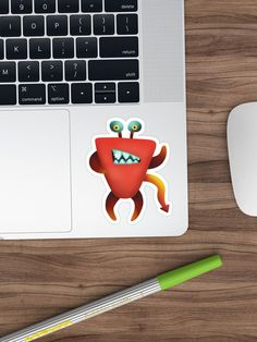 """""""Devil crab monster"""" Sticker by nobelbunt Monster Stickers, Creepy Cute, Sticker Design, Sell Your Art, Devil, Finding Yourself, Stationery, Illustrations, Graphic Design"""