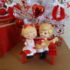 Vintage Valentine Couple Sitting On A Bench by MissConduct*, via Flickr