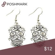 """SugarSkull Dangle Earrings Adorable SugarSkull Dangle Earrings. Drop 1.75"""". Jewelry Earrings"""