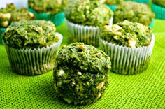Tasty food for busy mums: Spinach & Feta Cheese Cornmeal Muffins with Mustard Seeds