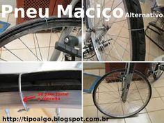 Foto: Pneu Maciço Alternativo. Ideia de pneu de bicicleta que dispensa o uso de…
