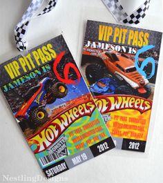 Monster Jam Truck Ticket Invitation by AsherPrints on Etsy Want