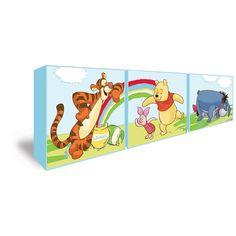 Unique  teiliges Winnie Pooh Leinwandbild f r das Kinderzimmer