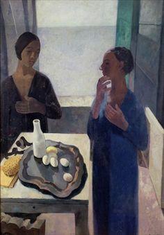 Young Woman at Nervi, Casorati, Felice (1886-1963) / Museo d'Arte Moderna di Ca' Pesaro, Venice, Italy / Bridgeman Images