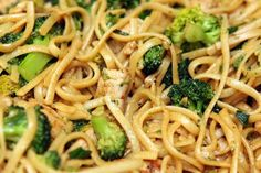 Angel in the Kitchen: Broccoli Lo Mein with Chicken or Pork