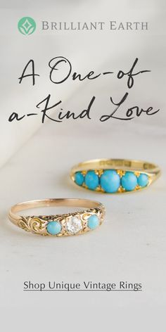 As timeless and unique as your love, our collection of vintage and antique rings originates from romantic eras of the past. Our one-of-a-kind jewelry is a distinctive choice she'll treasure forever. I Love Jewelry, Jewelry Box, Jewelery, Jewelry Accessories, Jewelry Design, Jewelry Making, Vintage Rings, Vintage Jewelry, Antique Rings