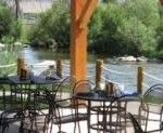 Dining by the river!  We love it.