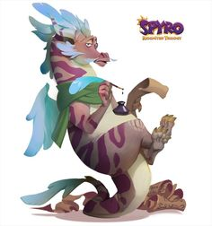 Spyro Characters, Monster Characters, Fictional Characters, 3d Sketch, Spyro The Dragon, Photoshop, Dragon Design, Old Cartoons, Devon