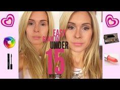 Easy Glam Makeup In Under 15 Minutes - via @ambersbeauty101 #makeup #beauty