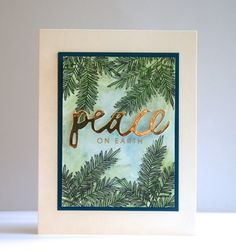 Peace on Earth Pines by mprantner at @studio_calico