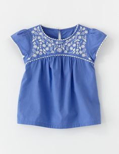 for Addie- Embroidered Folk Top by Boden $38- love it so much I almost want to spend this much money on it. Almost.