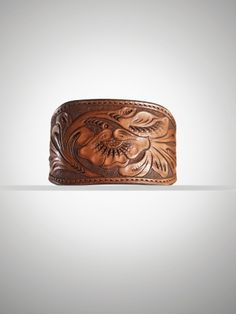 Tooled leather bracelet. So pretty and casual.