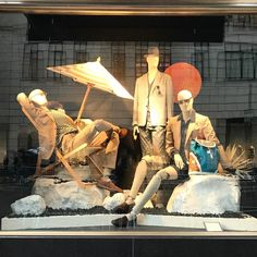 """BERGDORF GOODMAN, (MEN), New York, """"Listen guys... Let's sit for a while...and forget about the world!"""", pinned by Ton van der Veer"""