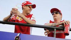 WORLD Formula 1.  Kimi Räikkönen ja Sebastian Vettel. Like.Watch. U? Ilta-Sanomat.fi