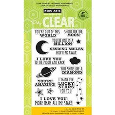 "Hero Arts Clear Stamps 4""X6"" Sheet-Shoot For The Moon"