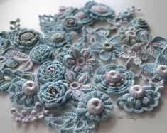 Crochet irlandais en couleur Application Decor veste Marsala