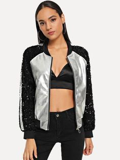 cdc7381860c 19 Best black sequin jacket images