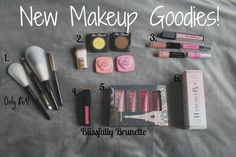 Check out the new products I've added to my makeup collection: http://blissfullybrunette.com/?p=5454