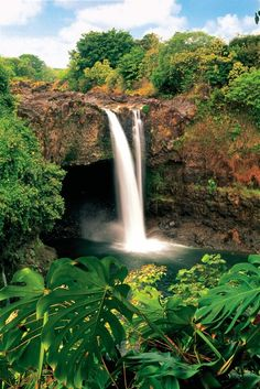Rainbow Falls in Hilo, Hawaii.  Just found an old picture I took at a spot similar to this one.