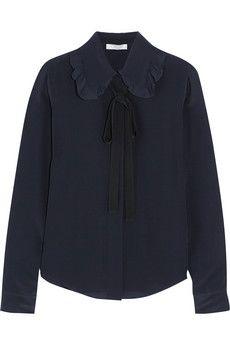 Chloé Silk crepe de chine pussy-bow blouse | NET-A-PORTER