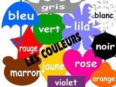 Mon cours de français: Les couleurs, les jours de la semaine, les mois de l' année.