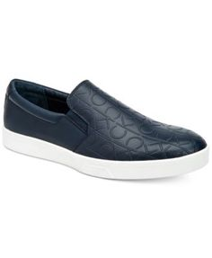 Calvin Klein Men's Ivo Slip-On Sneakers $38.99 The Ivo sneakers from Calvin Klein feature a cool allover embossed pattern to add extra flair to your casual athletic look.