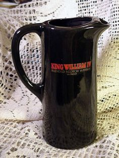 Collectable Pottery Pub Jug King William IV Blended Scotch Whisky 86 Proof #KingWilliamIVBlendedScotchWhisky86Proof