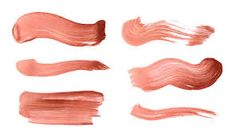 Image result for paint brush stroke peach
