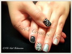 CND Shellac animal print design by Claire's Creative Nails, Northampton. Look at Claire's Creative Nails on Facebook for how this look was created.