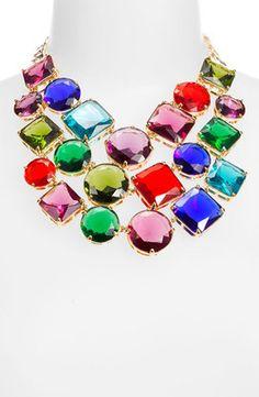 kate spade new york 'crystal kaleidoscope' bib necklace