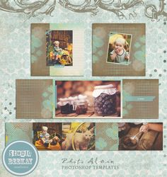INSTANT DOWNLOAD 3x3 Accordion Mini Book Templates by StudioBeeKay