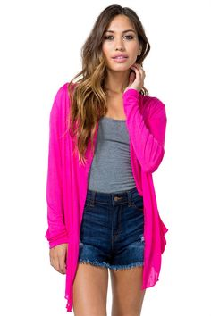 Long Sleeve Open Front CardiganLong Sleeve Open Front Cardigan
