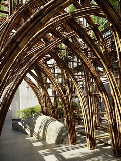 Gallery of Bamboo Forest / Vo Trong Nghia Architects - 6 Natural Architecture, Bamboo Architecture, Amazing Architecture, Architecture Design, Biomimicry Architecture, Chinese Architecture, Architecture Office, Futuristic Architecture, Sustainable Architecture