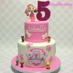 Paw Patrol Skye birthday cake by Gema Sweets.
