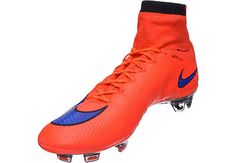 Nike Mercurial Superfly IV FG Soccer Cleats - Bright Crimson and Violet