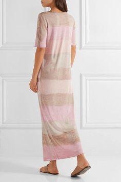 Raquel Allegra | Tie-dyed stretch cotton-blend jersey maxi dress | NET-A-PORTER.COM