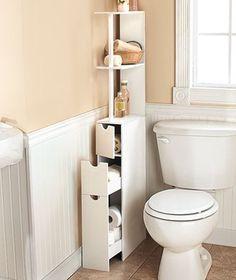 Bathroom storage with a small footprint